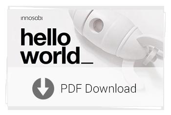 Unternehmenspräsentation innosabi: hello world