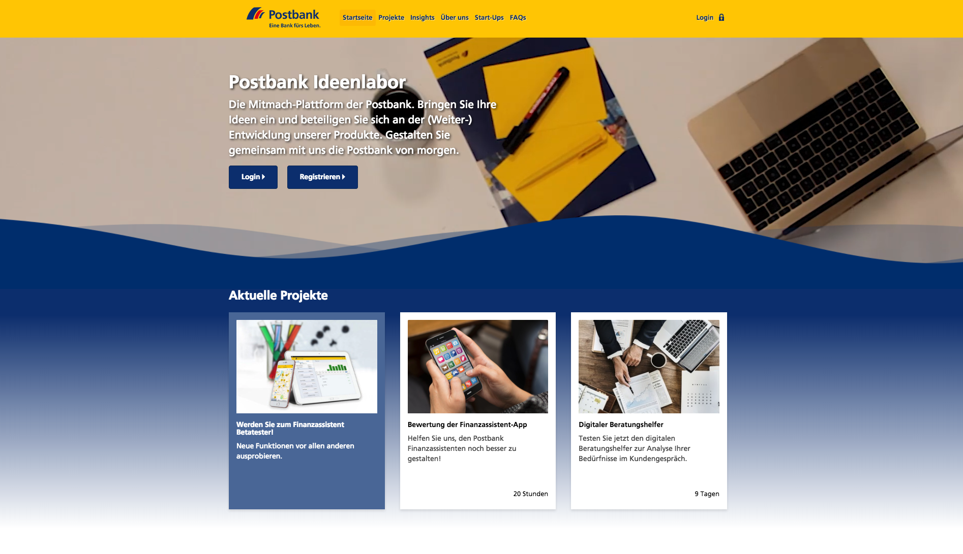 Die innosabi telescope Software: Postbank Ideenlabor