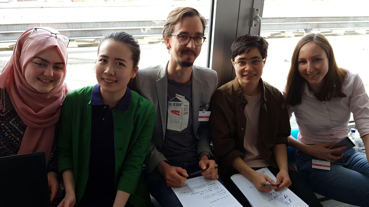 Team BlockPension beim TexxFactor Hackathon der Deutschen Bank und Finleap