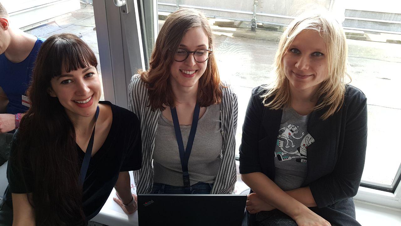 Team SpaceHamster beim TexxFactor Hackathon der Deutschen Bank und Finleap