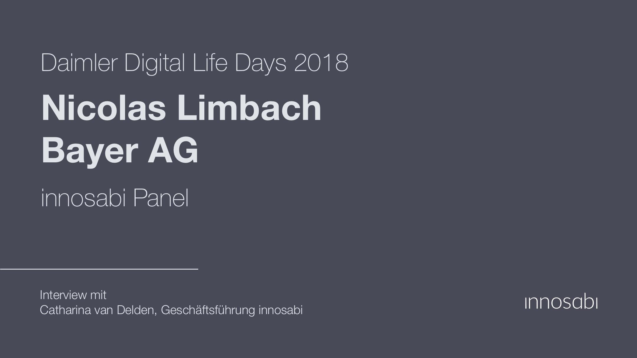 Interview mit Nicolas Limbach - Bayer AG